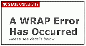 Error message - Wrap Error has occured