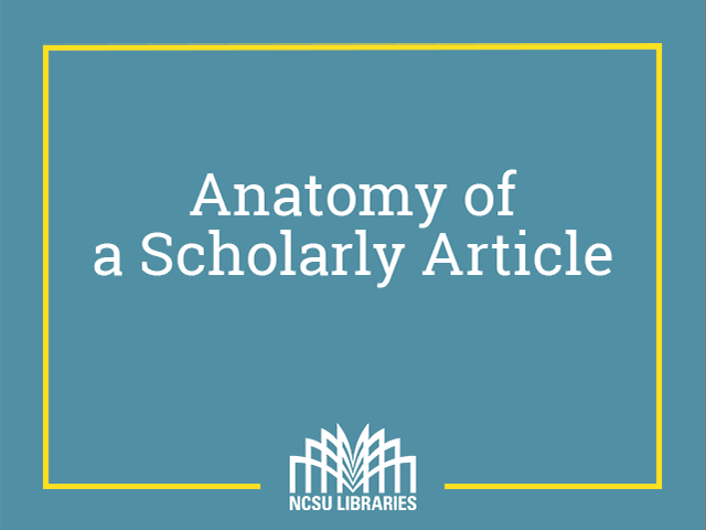 infographic describes sections of scholarly articles