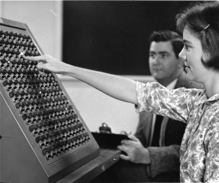 Computer at NC State during the 1960s.