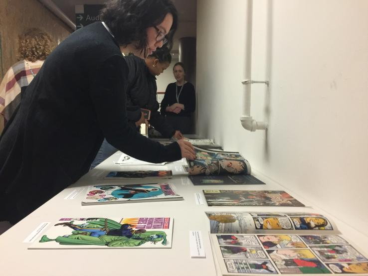 Display at She Makes Comics event