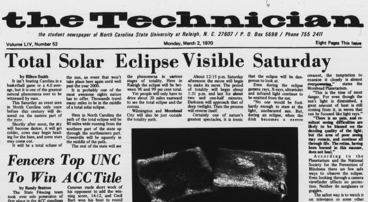 Total solar eclipse visible Saturday