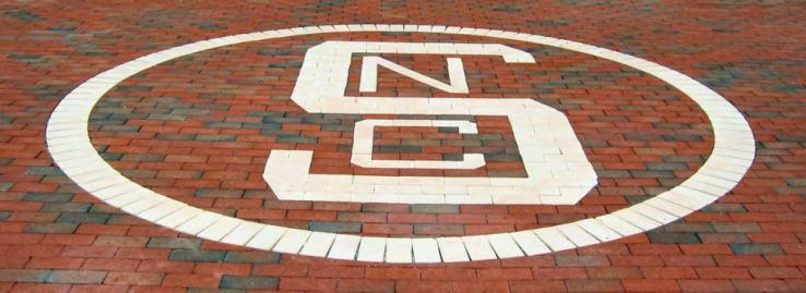 Block-S logo in the Brickyard, 2006 (photo by Ed Funkhouser)