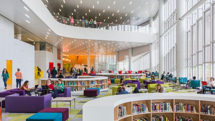 James B. Hunt Jr. Library Rain Garden Reading Lounge