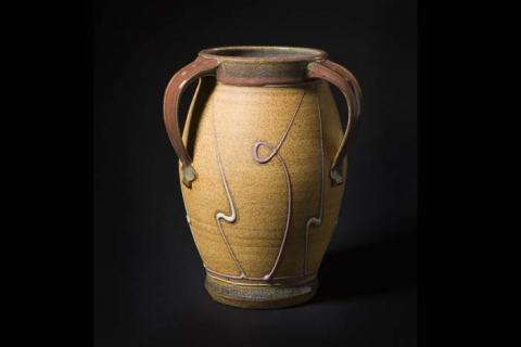 Michael Rutkowsky, Tall Three-Handled Vase. Gift of Bernard J. and Patricia H. Hyman.