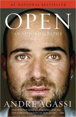 """Open"" book cover."