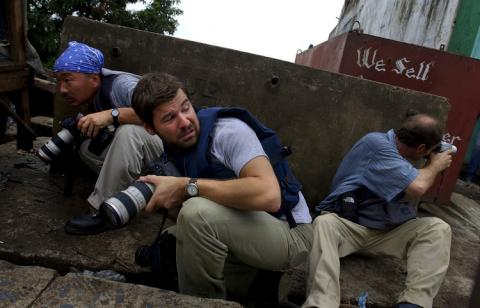 Photo of Chris Hondros - photo credit Nic Bothma