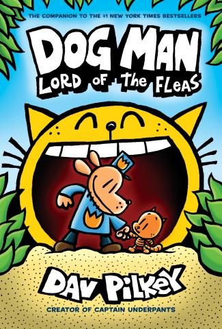 "Front cover of ""Dog Man Lord of the Fleas""."