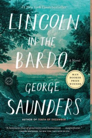 Lincoln in the Bardo book cover.