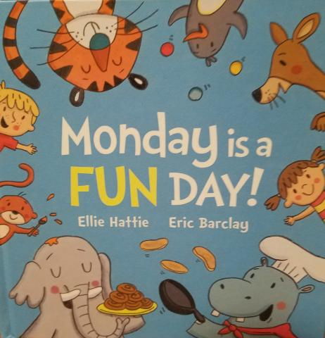"""Monday is a Fun Day"" book cover."