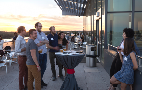Reception on the terrace at the 2017 event
