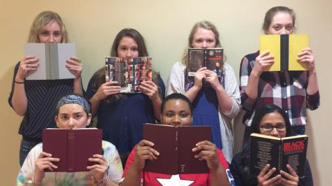 Banned Books reading by NC State students
