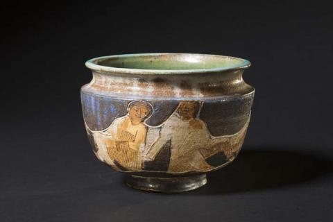 "Marguerite Wildenhain, ""Siesta on Campus."" Transferred from the North Carolina Museum of Art."