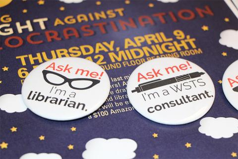 Long Night Against Procrastination buttons