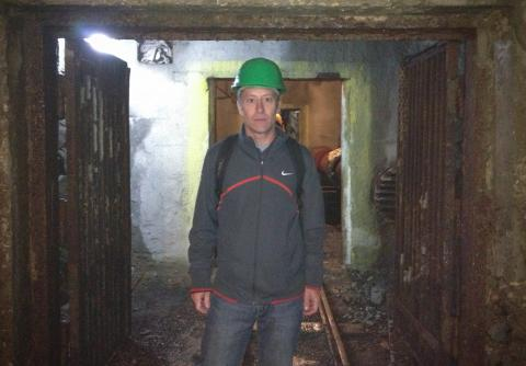 Dr. Tom Shriver at the Jacymov Uranium Mine in the Czech Republic