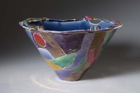 "Sally Bowen Prange, ""Pathfinder Vessel."" Gift of the artist, courtesy of Lee Hansley Gallery, Raleigh, NC."