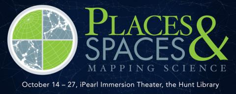 Places and Spaces exhibit map logo