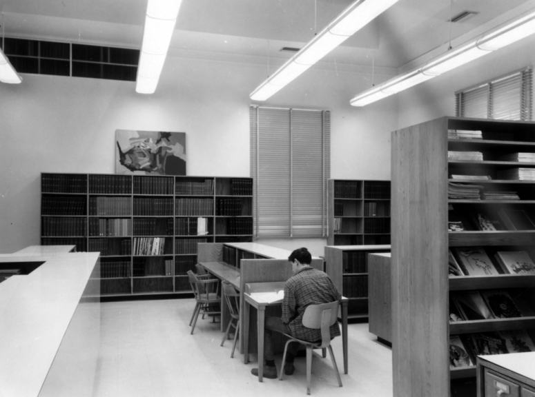 The Design Library around the time it was named for Harrye B. Lyons.