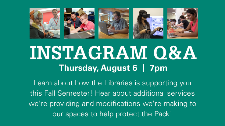 Instagram Q&A, Thursday, August 6 at 7pm