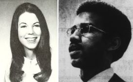 In 1969, Kathy Tiska became the first woman Secretary of NC State Student Senate and Eric Moore first African American Senate President (left image from 1971 Agromeck yearbook, right from 18 Apr. 1969 Technician newspaper