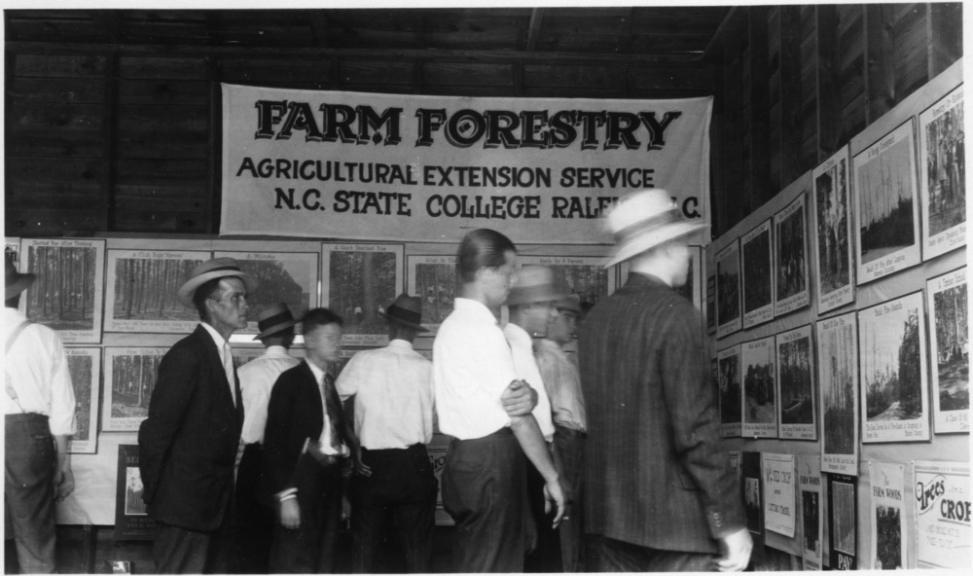 An exhibit of Farm Forestry Extension photographs from the 1920s