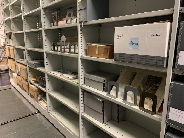 Items waiting to be accessioned at the SCRC.