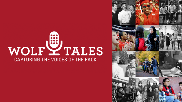 Add your voice to our campus archive at Wolf Tales Open Recording Day