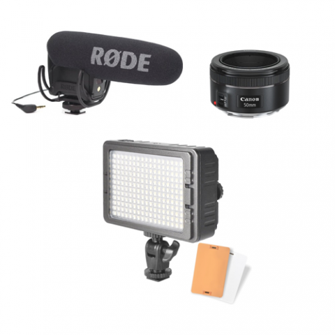 Microphone and flash kit