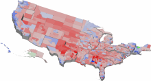 An example of a perceptually-motivated multidimensional visualization of recent U.S. election results.
