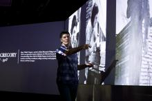 David Silver in the Teaching and Visualization Lab