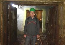 Dr. Tom Shriver at the Jacymov Uranium Mine in the Czech Republic