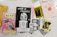 A selection of zines from Kelly Wooten's Making Space workshop at the NCSU Libraries.