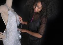 "Designer Jazsalyn McNeil and her ""Pulse Dress"""