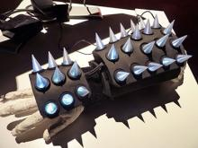 Glove controller with spikes