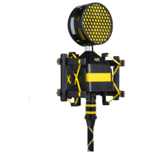Worker Bee Microphone with pop filter and shockmount.
