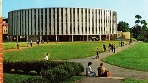 Postcard of Harrelson Hall, 1962.