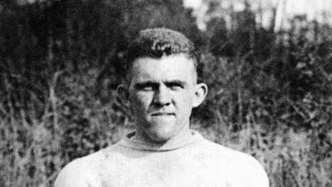 J. H. Ripple became NC State's first All-American athlete in 1918.