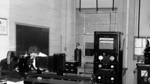 Anna Clyde Fraker in the lab, June 1967