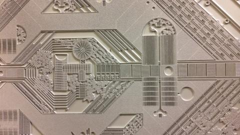 Printing plate of Catalano's urban design plan for Quartieri Spagnoli in Naples, Italy