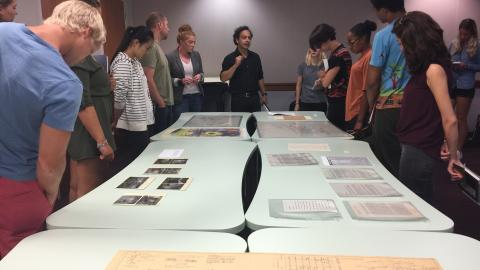 Dr. Burak Erdim with students in ARC 441: History of Contemporary Architecture