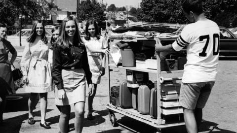 Students move in, 1973