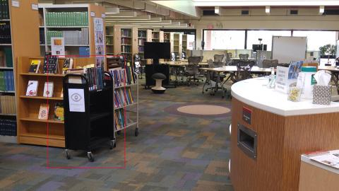 Library with ABVO book display