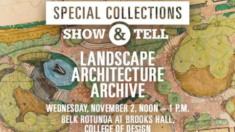Special Collections Landscape Architecture Archive