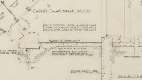 Detailed view of Dorton Arena Plans