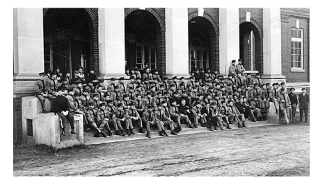 NC State cadets, 1917