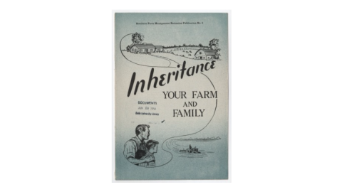 Southern Farm Management Extension Publications, no. 5 - Inheritance Your Farm And Family