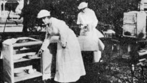 An Agricultural Extension Service home demonstration during the World War I period