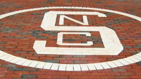 Block-S logo in the Brickyard, 2006 (photo by Ed Funkhouser)