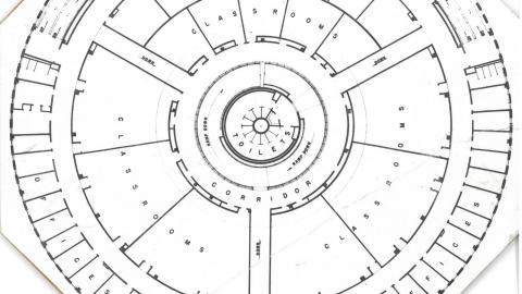Harrelson Hall floorplan, 1959