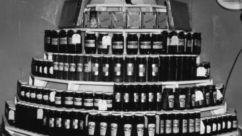Honey exhibit at NC State Fair, ca. 1950