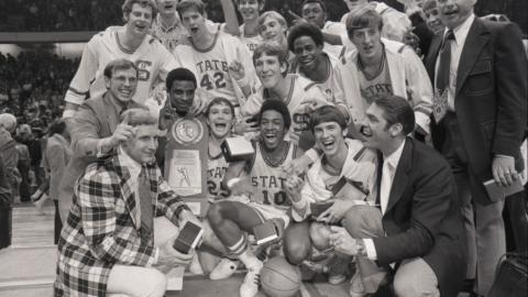 Team photo after winning the 1974 NCAA title